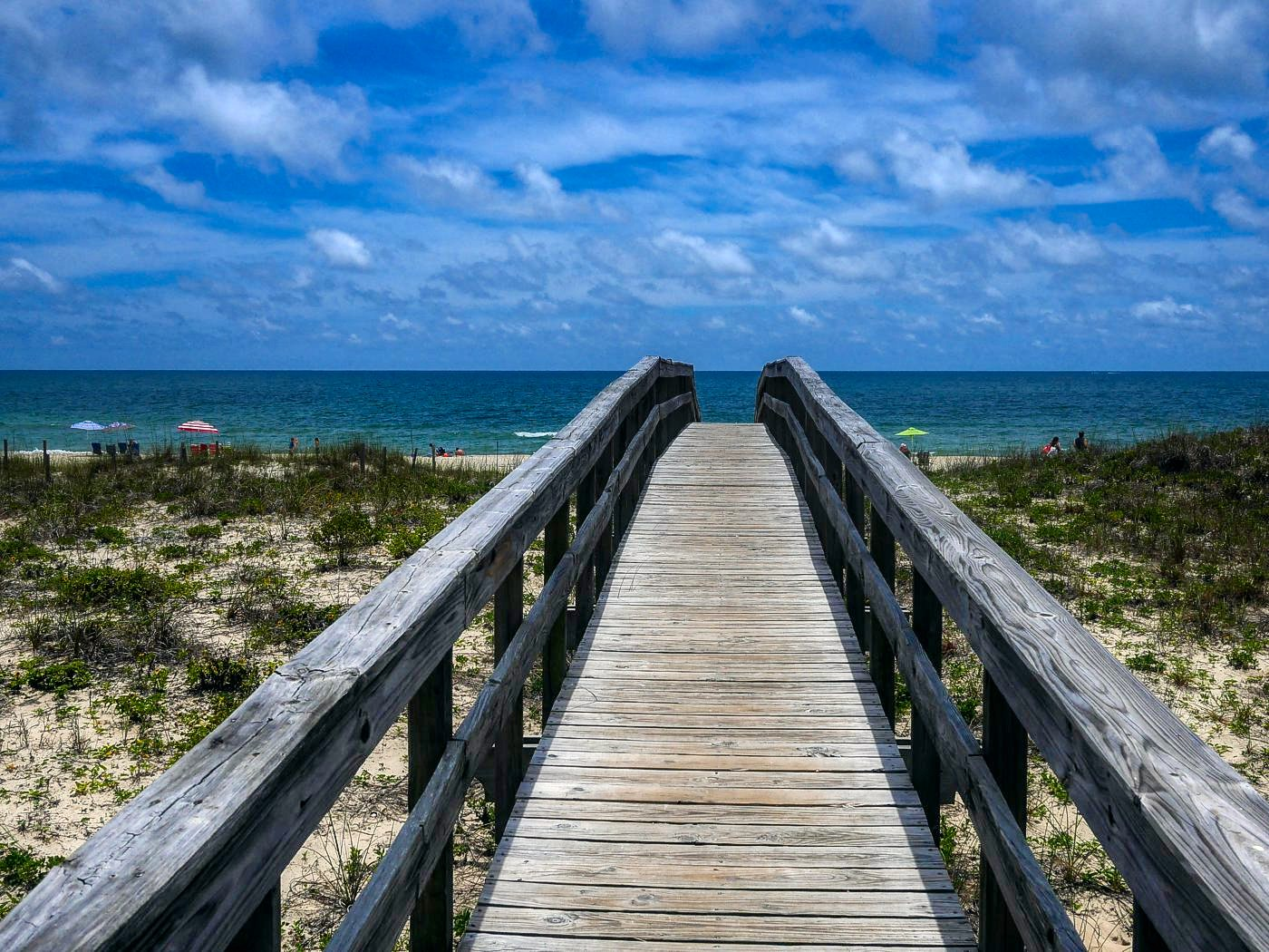 Walkway to the beach on St. George Island